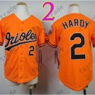 Baltimore Orioles Youth Jersey 2 J.J. Hardy Kid Orange