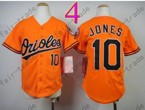 Baltimore Orioles Youth Jersey 10 Adam Jones Kid Orange