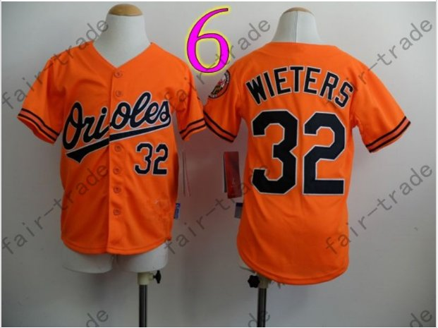 Baltimore Orioles Youth Jersey 32 Matt Wieters Kid Orange