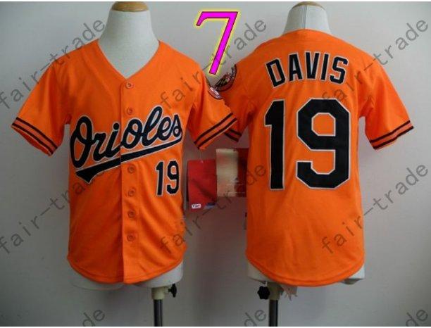 Baltimore Orioles Youth Jersey 19 Chris Davis Kid Orange