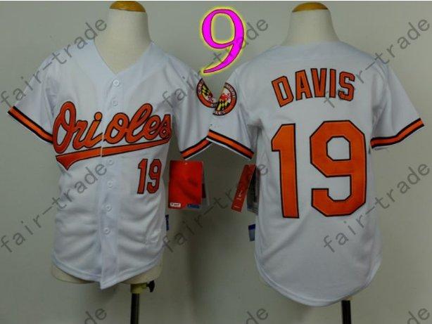 Baltimore Orioles Youth Jersey 19 Chris Davis Kid White