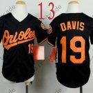 Baltimore Orioles Youth Jersey 19 Chris Davis Kid Black
