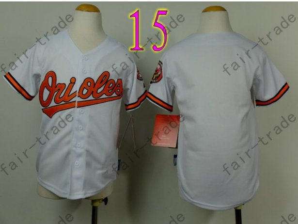 Baltimore Orioles Youth Jersey Kid White