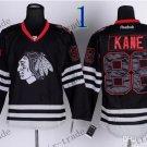 Chicago Blackhawks #88 Patrick Kane Black Ice And Skull Stitched Hockey Jerseys