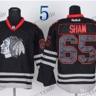Chicago Blackhawks #65 Andrew Shaw Black Ice And Skull Stitched Hockey Jerseys Style 1
