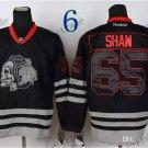 Chicago Blackhawks #65 Andrew Shaw Black Ice And Skull Stitched Hockey Jerseys Style 2