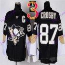 Stitched Pittsburgh Penguins #87 Sidney Crosby Black Hockey Jerseys Ice Jersey Style 2
