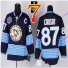 Stitched Pittsburgh Penguins #87 Sidney Crosby Black Hockey Jerseys Ice Jersey Style 1