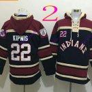 cleveland indians  #22 Jason Kipnis 2016 Baseball Hooded Stitched Hoodies Sweatshirt Jerseys