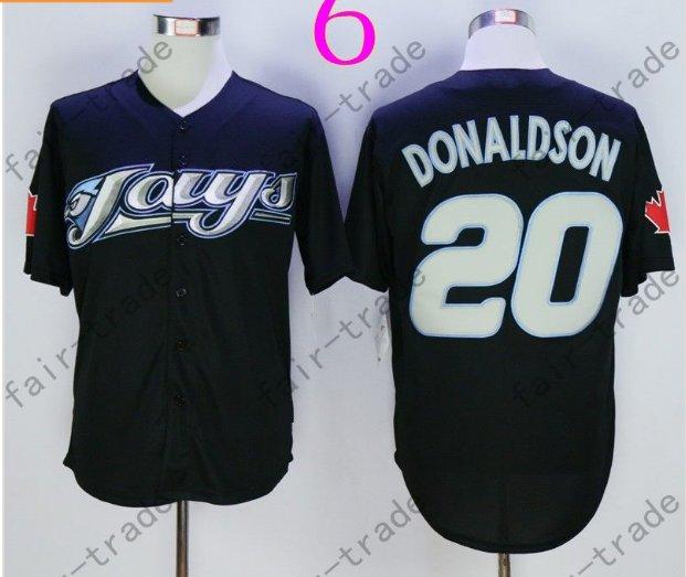 Toronto Blue Jays #20 Josh Donaldson Black 40th Anniversary Patch Stitched Jersey