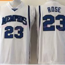 Derrick Rose NCAA College Jersey Tigers White Stitched