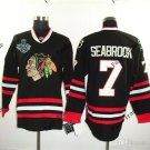 #7 brent seabrook Blackhawks jersey Black Ice Hockey Jerseys 2015 Final Stanley Cup Patch