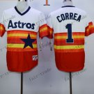 Houston Astros #1 Carlos Correa 2015 Baseball Jersey Authentic Stitched