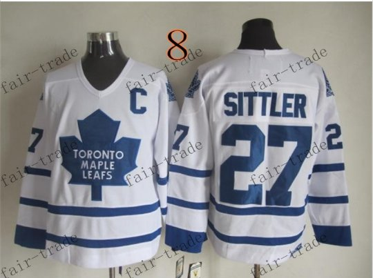 Toronto #27 Darryl Sittler Throwback Vintage Jersey ICE Hockey Jerseys Heritage Stitched Style 2