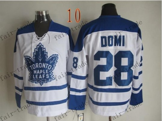 Toronto #28 Tie Domi Throwback Vintage Jersey ICE Hockey Jerseys Heritage Stitched Style 1