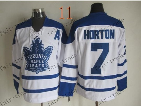 Toronto #7 Tim Horton Throwback Vintage Jersey ICE Hockey Jerseys Heritage Stitched Style 1