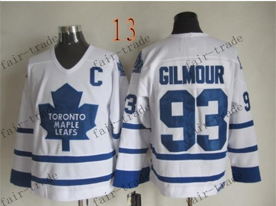 Toronto #93 Doug Gilmour Throwback Vintage Jersey ICE Hockey Jerseys Heritage Stitched Style 2