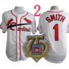 Ozzie Smith Jersey 1992 Retro Baby White 75th Patch Jerseys Style 3