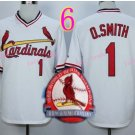Ozzie Smith Jersey 1992 Retro Baby White 75th Patch Jerseys Style 4
