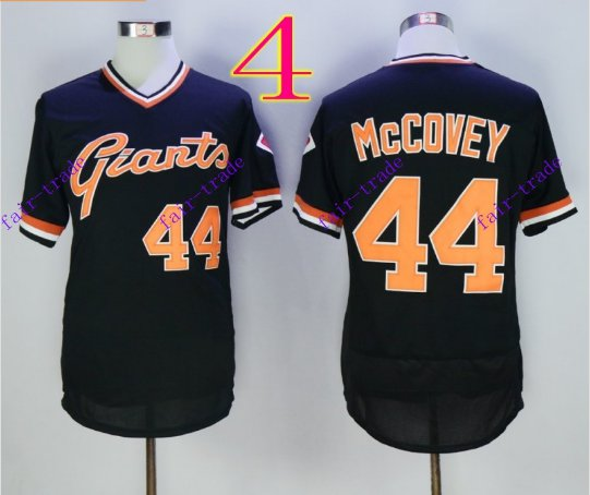 san francisco giants #44 willie mccovey 2016 Baseball Jersey  Authentic Stitched Black Style 1