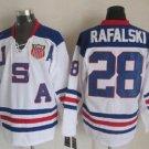 2010 Team USA Hockey Jersey Ice OLYMPIC Blue 28 Brian Rafalski