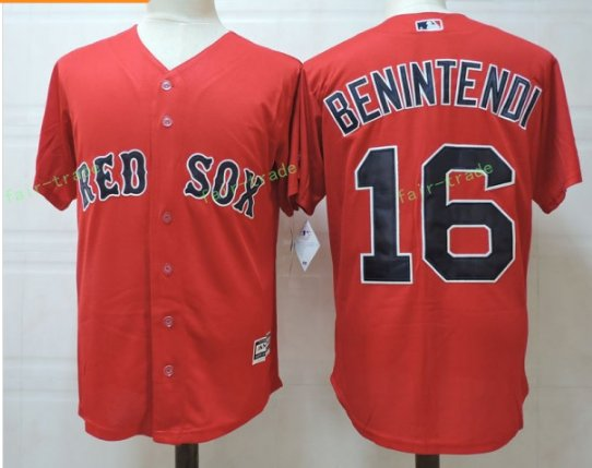Boston Red Sox #16 Andrew Benintendi Red Sitched Jerseys