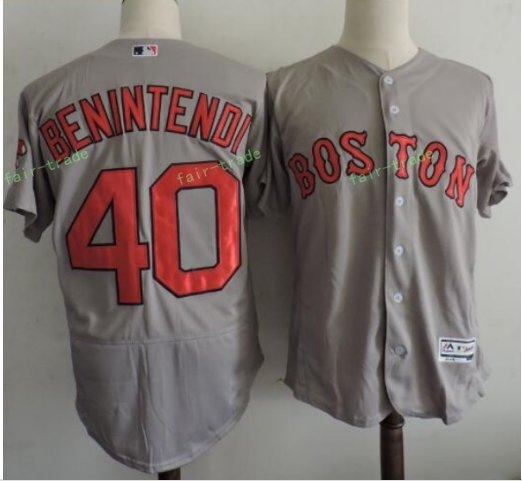 Boston Red Sox #40 Andrew Benintendi Gray Sitched Jerseys