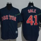 Boston Red Sox #41 Chris Sale Blue Sitched Jerseys