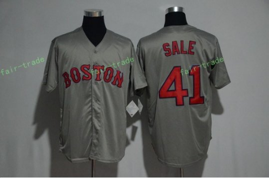 Boston Red Sox #41 Chris Sale Gray Sitched Jerseys