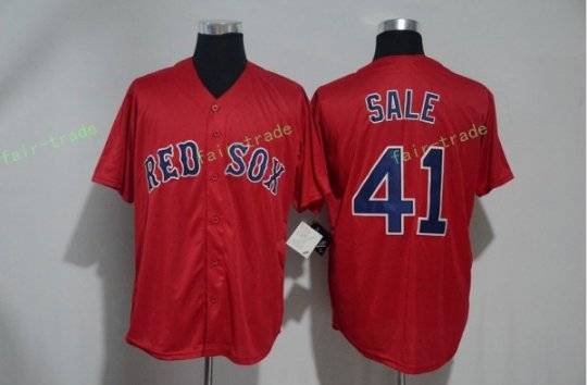 Boston Red Sox #41 Chris Sale Red Sitched Jerseys
