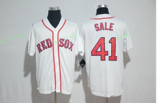 Boston Red Sox #41 Chris Sale White Sitched Jerseys
