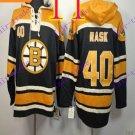 Stitched Boston Bruin Hoody #40 TUUKKA RASK Black Hockey Jerseys Ice Jersey