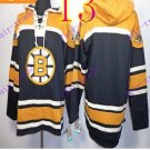 Stitched Boston Bruin Hoody Black Hockey Jerseys Ice Jersey