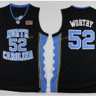 2017 North Carolina Tar Heels College 52 James Worthy Jersey Black