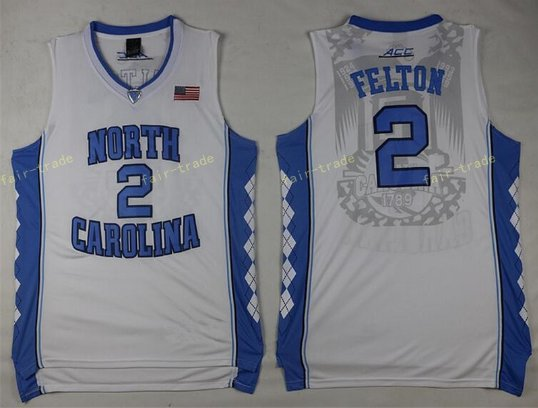 2017 North Carolina Tar Heels College #2 Jalek Felton White Jersey