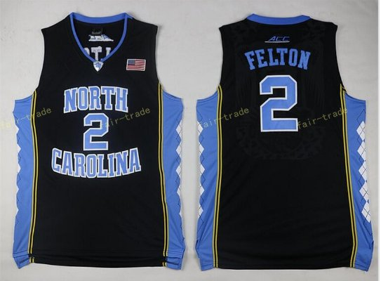 2017 North Carolina Tar Heels College #2 Jalek Felton Black Jersey