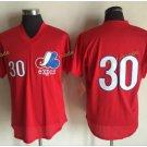 Montreal Expos #30 Tim Raine Red Throwback Retro 100% Stitched Baseball Jerseys