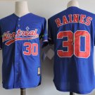 Montreal Expos #30 Tim Raine Blue Throwback Retro 100% Stitched Baseball Jerseys