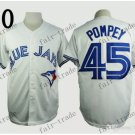 Toronto Blue Jays #45 Dalton Pompey 2015 Baseball Jersey White Jerseys Authentic Stitched