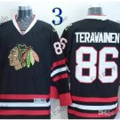 #86 Teuvo Teravainen Throwback Vintage Jersey Black ICE Hockey Jerseys Heritage