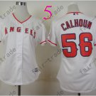 Los Angeles Angels Women Jersey  #56 Kole Calhoun White