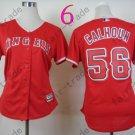 Los Angeles Angels Women Jersey  #56 Kole Calhoun Red
