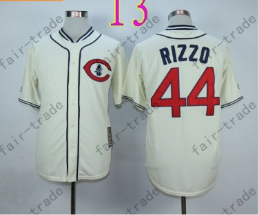 Anthony Rizzo Jersey Chicago Cubs 44# Baseball Jersey, Stitched High Quality White Style 1