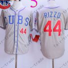 Anthony Rizzo Jersey Chicago Cubs 44# Baseball Jersey, Stitched High Quality Gray Style 1
