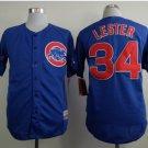With 2016 World Series Patch Chicago Cubs Baseball Jerseys 34 Jon Lester Flexbase Cool Base Blue