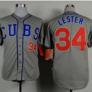 With 2016 World Series Patch Chicago Cubs Baseball Jerseys 34 Jon Lester Flexbase Cool Base Gray