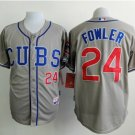 With 2016 World Series Patch Chicago Cubs Baseball Jerseys 24 Dexter Fowler Flexbase Cool Base Gray