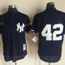 New York Yankees #42 Mariano Rivera Blue Flexbase Stitched Jersey