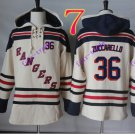 new york rangers #36 Mats Zuccarello hoodie Hockey Hooded Stitched Old Time Sweatshirt Jerseys