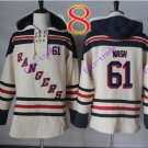 new york rangers #61 Rick Nash hoodie Hockey Hooded Stitched Old Time Sweatshirt Jerseys